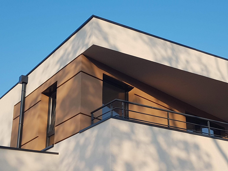 détail terrasse et toiture